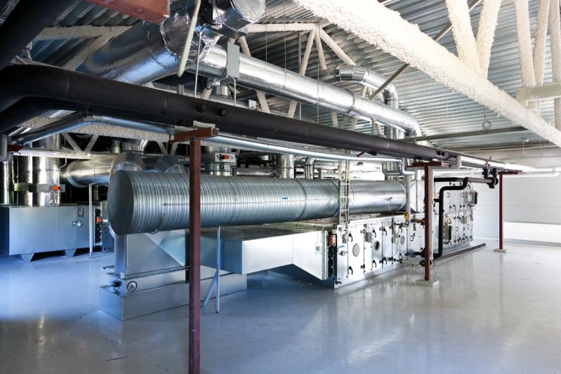 Вентиляционная система для обслуживания чистых зон -
